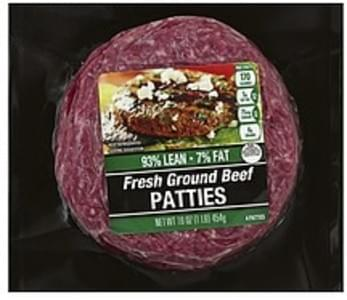 Cub Beef Patties Fresh Ground, 93/7