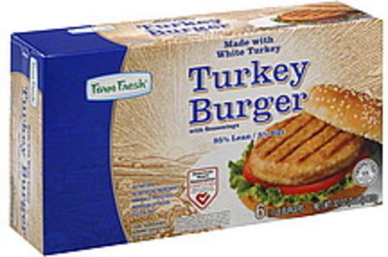 Farm Fresh with Seasonings Turkey Burgers - 6 ea