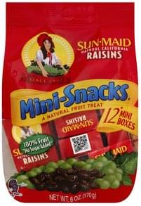 Sun Maid Raisins Natural California, Mini-Snacks