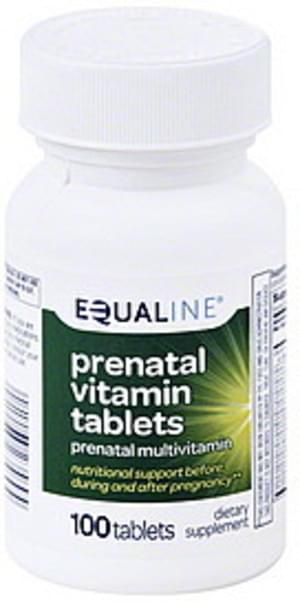 Equaline Tablets Prenatal Vitamin - 100 ea