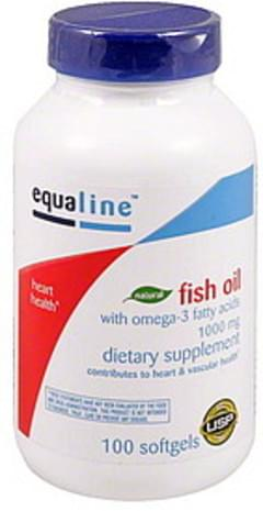 Equaline Fish Oil with Omega-3 Fatty Acids, 1000 mg, Softgels
