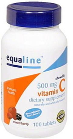 Equaline Vitamin C 500 mg, Chewable Tablets