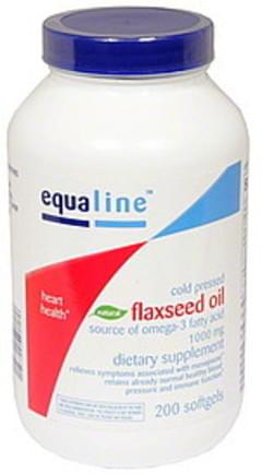Equaline Flaxseed Oil 1,000 mg, Cold Pressed