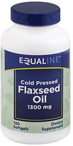 Equaline Flaxseed Oil Cold Pressed, 1300 mg, Softgels