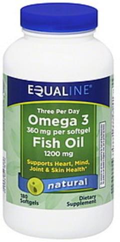 Equaline Omega 3 Fish Oil Natural, Softgels