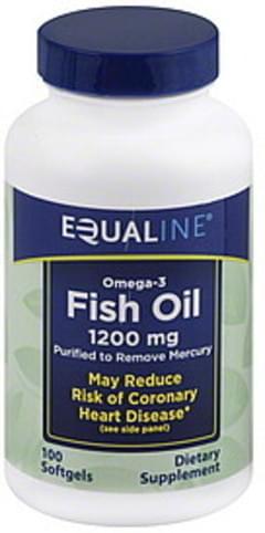 Equaline Fish Oil Omega-3, 1200 mg, Softgels
