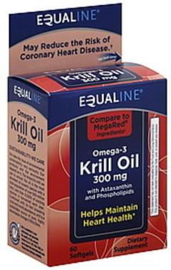 Equaline Omega-3 Krill Oil 300 mg, Softgels