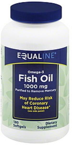 Equaline Omega-3, 1000 mg, Softgels Fish Oil - 180 ea