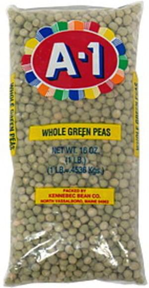 A 1 Green Peas, Whole Whole Green Peas - 16 oz