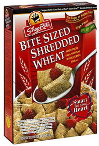 ShopRite Shredded Wheat, Bite Size Cereal - 17.2 oz
