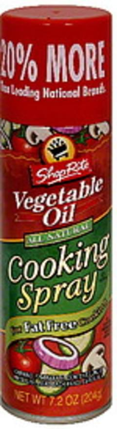 ShopRite Cooking Spray Vegetable Oil