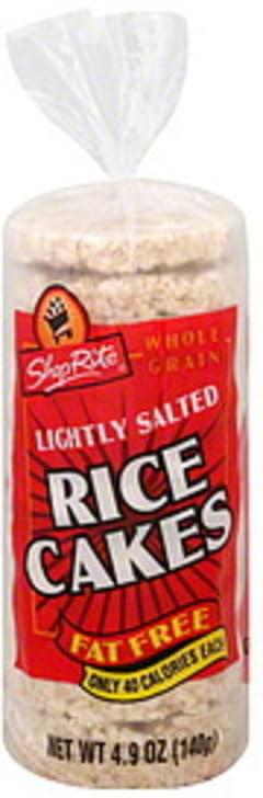 ShopRite Rice Cakes Fat Free, Whole Grain, Lightly Salted