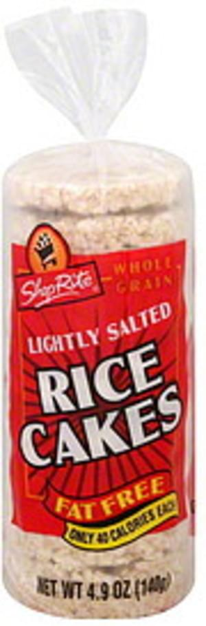 ShopRite Fat Free, Whole Grain, Lightly Salted Rice Cakes - 4.9 oz