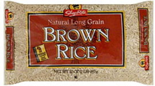 ShopRite Brown Rice Natural Long Grain
