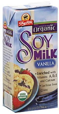 ShopRite Soy Milk Organic, Vanilla