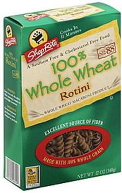 ShopRite Rotini 100% Whole Wheat, No. 88