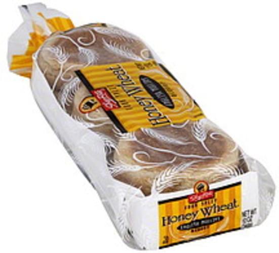 ShopRite Fork Split, Honey Wheat English Muffins - 6 ea