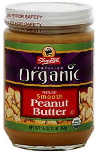 ShopRite Smooth Peanut Butter - 16 oz