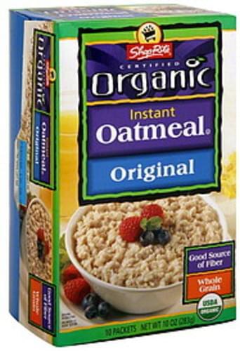ShopRite Original Instant Oatmeal - 10 ea