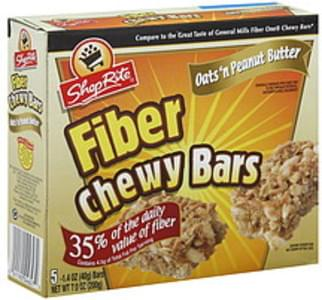 ShopRite Chewy Bars Fiber, Oats 'N Peanut Butter