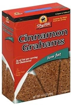 ShopRite Grahams Low Fat, Cinnamon