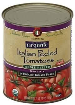ShopRite Tomatoes Italian Peeled, in Organic Tomato Puree, Whole