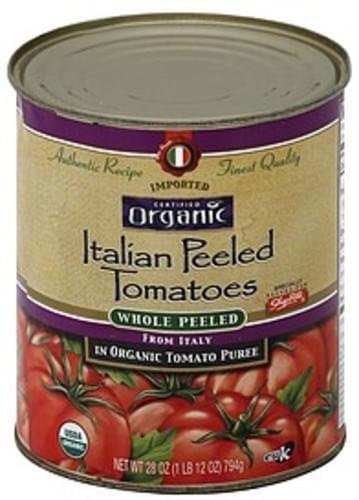 ShopRite Italian Peeled, in Organic Tomato Puree, Whole Tomatoes - 28 oz