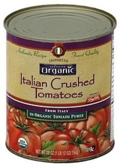 ShopRite Tomatoes Italian, in Organic Tomato Puree, Crushed