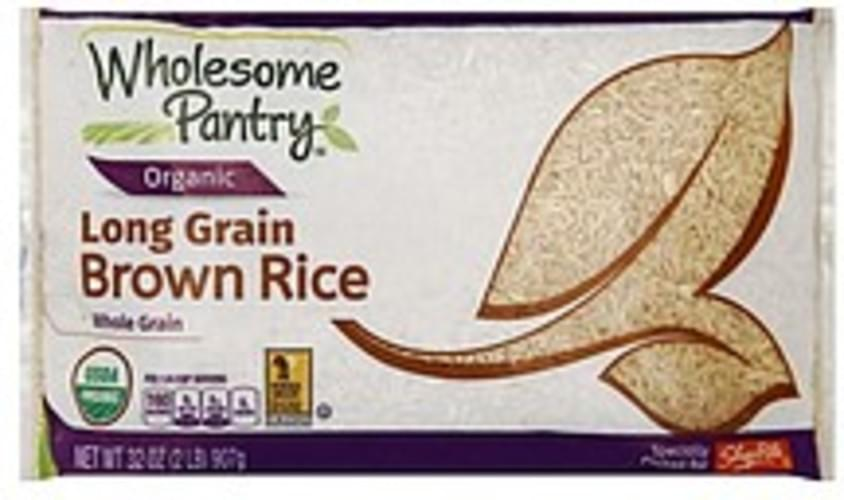 Wholesome Pantry Long Grain Brown Rice - 32 oz