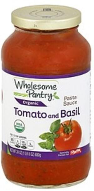 Wholesome Pantry Tomato and Basil Pasta Sauce - 24 oz