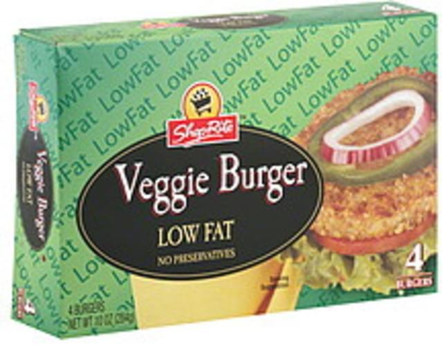 ShopRite Low Fat Veggie Burger - 4 ea