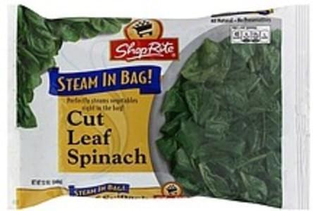 ShopRite Spinach Cut Leaf, Steam in Bag