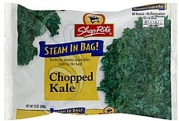ShopRite Chopped, Steam in Bag Kale - 12 oz