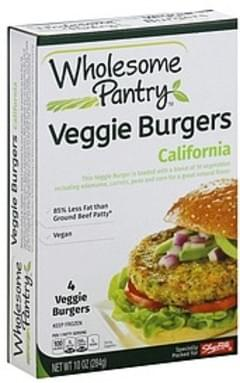 Wholesome Pantry Burgers Veggie, California