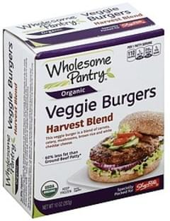 Wholesome Pantry Veggie Burgers Harvest Blend