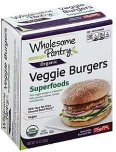 Wholesome Pantry Veggie Burgers Superfoods