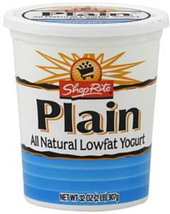 ShopRite Yogurt Lowfat, Plain
