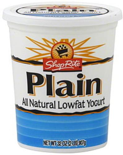 ShopRite Lowfat, Plain Yogurt - 32 oz
