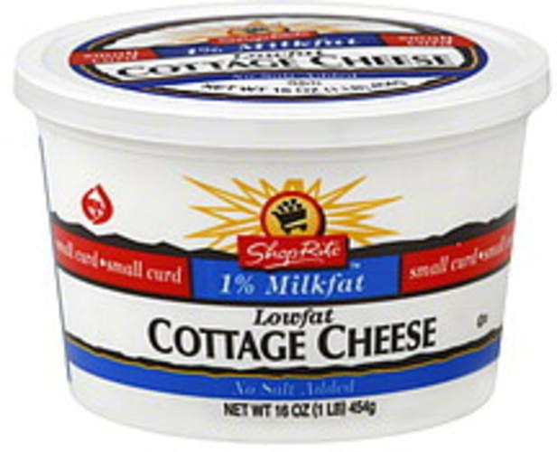 ShopRite Small Curd, 1% Milkfat, Lowfat Cottage Cheese - 16 oz