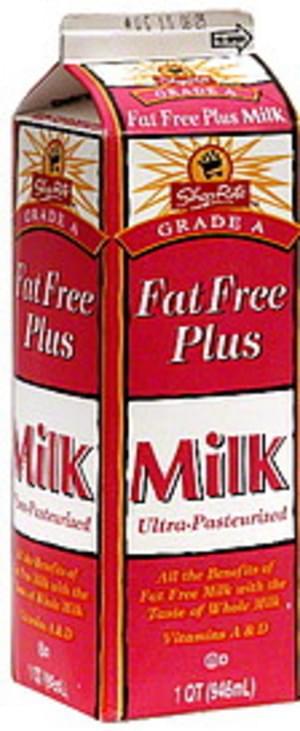 ShopRite Fat Free Plus Milk - 1 QT