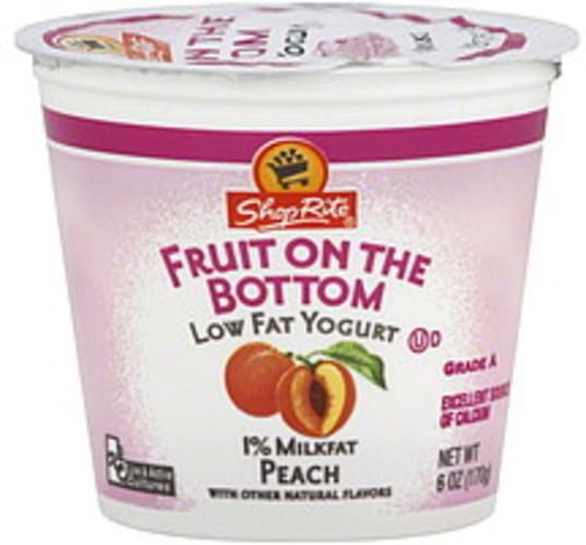 Shoprite Low Fat Fruit On The Bottom Peach Yogurt 6 Oz Nutrition Information Innit