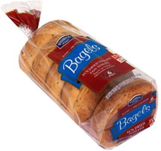 Hill Country Fare Sun Dried Tomato, Sliced Bagels - 6 ea