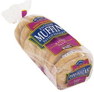 Hill Country Fare English Muffins Raisin, Sliced