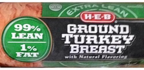H-E-B Ground Turkey Breast - 112 g