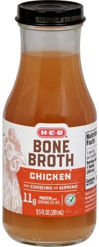 Heb Chicken Bone Broth - 9.5 oz