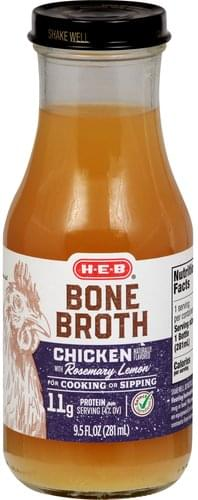 Heb Chicken with Rosemary Lemon Bone Broth - 9.5 oz