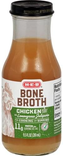 Heb Chicken with Lemongrass Jalapeno Bone Broth - 9.5 oz