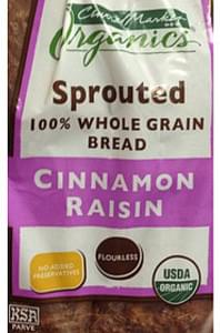 Central Market Cinnamon Raisin Sprouted Whole Grain Bread