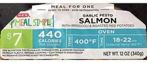 H-E-B Garlic Pesto Salmon