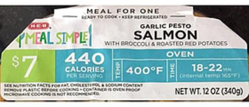 H-E-B Garlic Pesto Salmon - 340 g